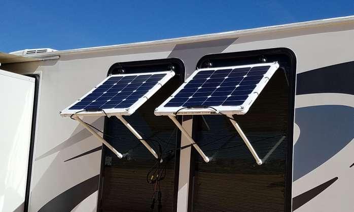 DIY Solar Panel Window Awning - RV With Tito