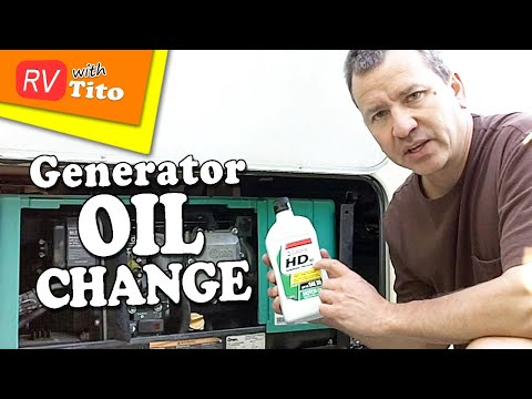 How To - Onan Generator Oil Change 1