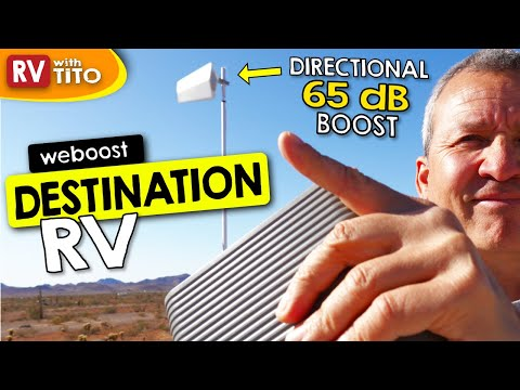 NEW 65 dB Weboost Destination RV Cell Phone Booster for Stationary Use (2021) 1