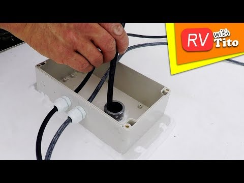 Drill One Hole In Your RV Roof For Many Cables 1