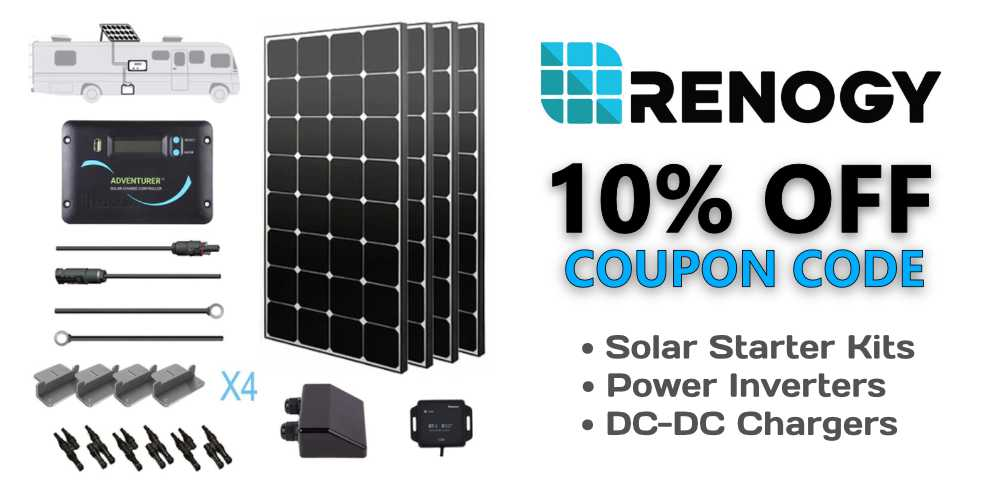 RVWITHTITO - Renogy 10% OFF Coupon