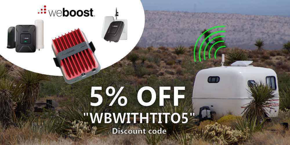 RVWITHTITO - weBoost 5% OFF Coupon WBWITHTITO5