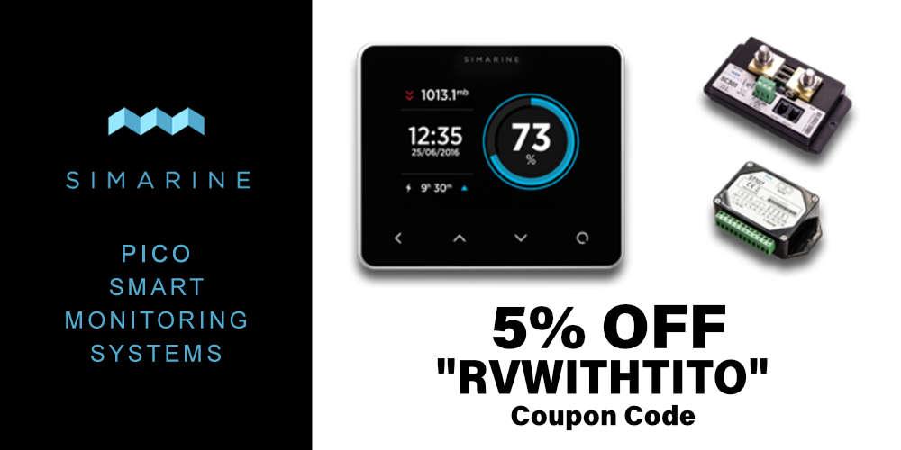 Simarine PICO 5 percent off discount code RVWITHTITO